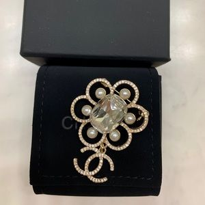 Chanel Crystal Brooch